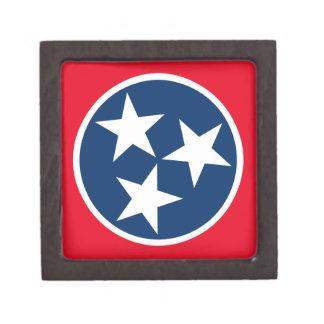 Tennessee Flag Jewelry Box