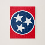"Tennessee Flag Jigsaw Puzzle<br><div class=""desc"">The tristar emblem on the Tennessee state flag.</div>"