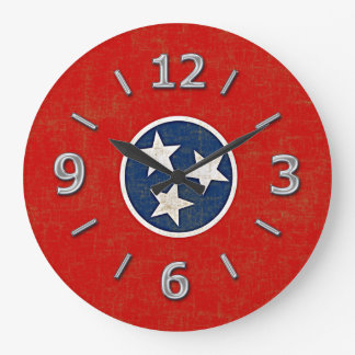 TENNESSEE FLAG LARGE CLOCK