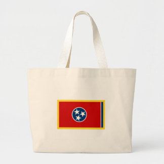 Tennessee Flag Large Tote Bag