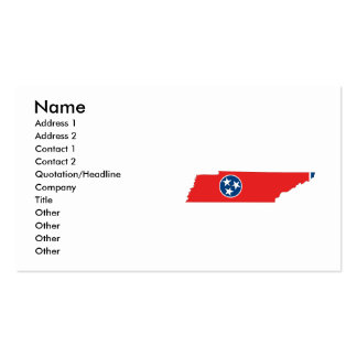 Tennessee Flag Map Double-Sided Standard Business Cards (Pack Of 100)
