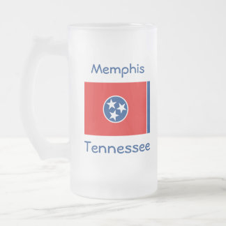 Tennessee Flag Map City Mug