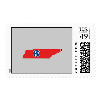 Tennessee Flag Map Postage