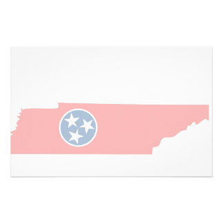 Tennessee Flag Map Stationery