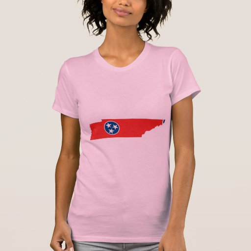 Tennessee Flag Map Tee Shirt