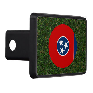Tennessee Flag on Grass Hitch Cover