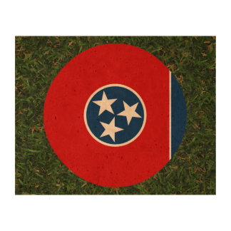 Tennessee Flag on Grass Cork Paper Print