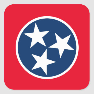 Tennessee Flag Square Sticker