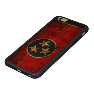 Tennessee Flag Vintage Grunge Carved® Cherry iPhone 6 Plus Bumper