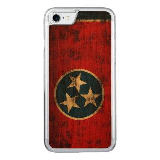 Tennessee Flag Vintage Grunge Carved iPhone 7 Case