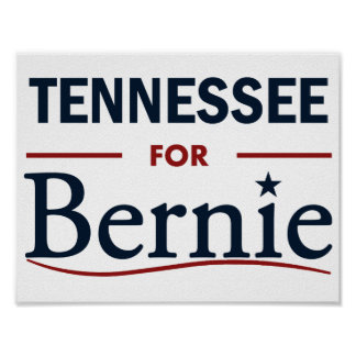 Tennessee for Bernie Poster