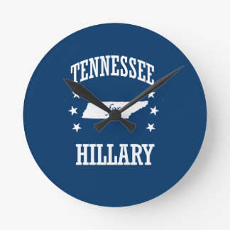 TENNESSEE FOR HILLARY ROUND WALL CLOCKS