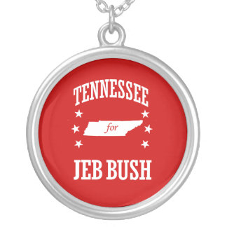 TENNESSEE FOR JEB BUSH ROUND PENDANT NECKLACE