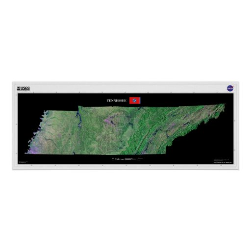 Tennessee From Space Poster
