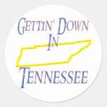 Tennessee - Gettin' Down Round Sticker