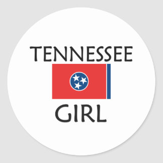TENNESSEE GIRL CLASSIC ROUND STICKER