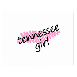 Tennessee Girl with Scribbled Tennessee Map Postcard