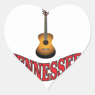 Tennessee Guitar Heart Sticker