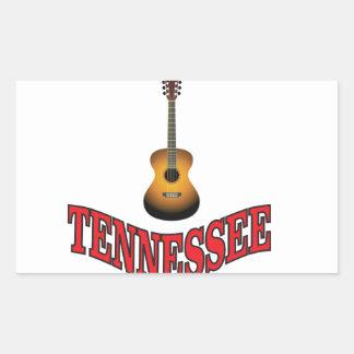Tennessee Guitar Rectangular Sticker