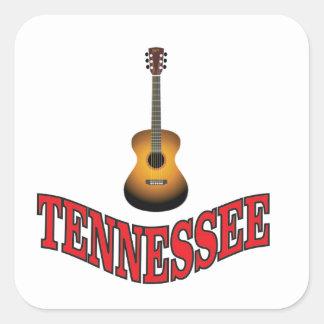 Tennessee Guitar Square Sticker