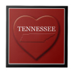 Tennessee Heart Map Home Decor Tile
