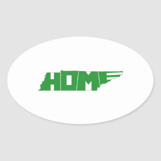 Tennessee HOME State Oval Sticker