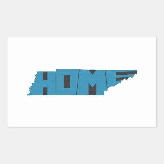 Tennessee HOME State Rectangular Sticker