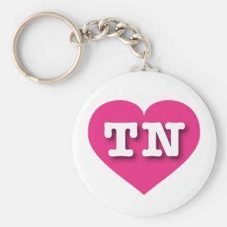 Tennessee Hot Pink Heart - Big Love Keychain