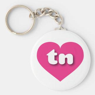 Tennessee hot pink heart - mini love keychain