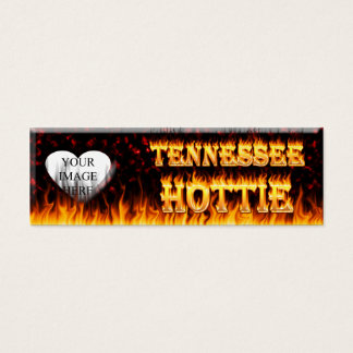 Tennessee Hottie fire and red marble heart. Mini Business Card