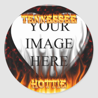 Tennessee Hottie fire and red marble heart. Sticker