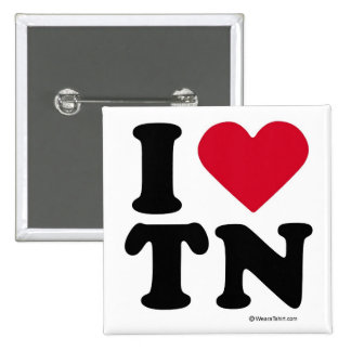 """TENNESSEE - """"I LOVE TN"""" """"I LOVE TENNESSEE"""" PINBACK BUTTON"""
