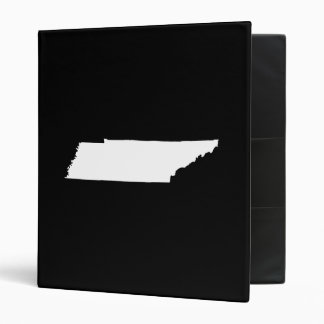 Tennessee in White 3 Ring Binder