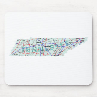 Tennessee Interstate Map Mousepad
