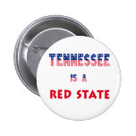 Tennessee is a Red State Pins