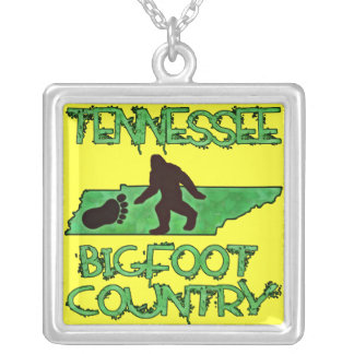 Tennessee Is Bigfoot Country Square Pendant Necklace