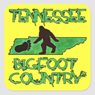 Tennessee Is Bigfoot Country Square Sticker
