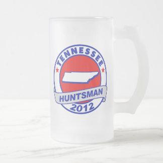Tennessee Jon Huntsman 16 Oz Frosted Glass Beer Mug