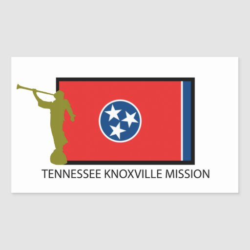 TENNESSEE KNOXVILLE MISSION LDS CTR RECTANGLE STICKER