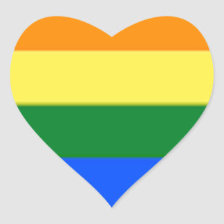 Tennessee LGBT Flag Map Heart Sticker