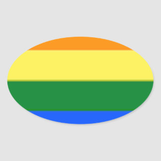 Tennessee LGBT Flag Map Oval Sticker
