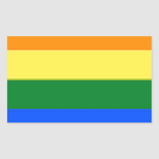 Tennessee LGBT Flag Map Rectangular Sticker