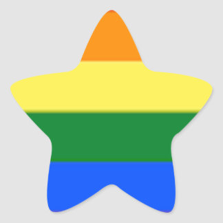 Tennessee LGBT Flag Map Star Sticker