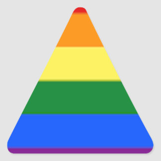 Tennessee LGBT Flag Map Triangle Sticker