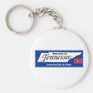 Tennessee Llavero Redondo Tipo Pin