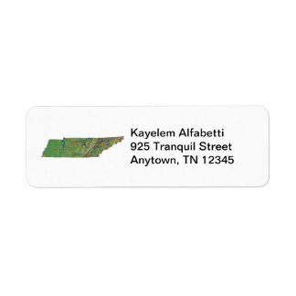 Tennessee Map Address Label