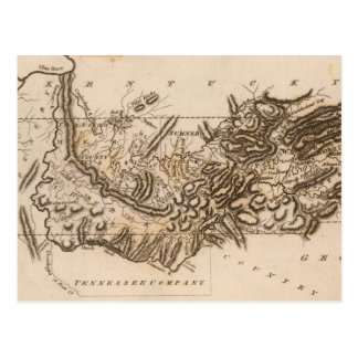 Tennessee Map by Arrowsmith Postcard