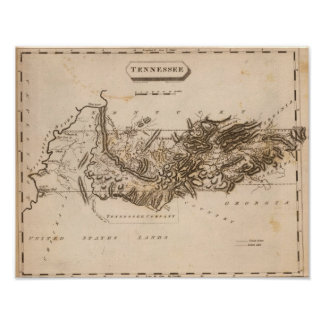 Tennessee Map by Arrowsmith Poster