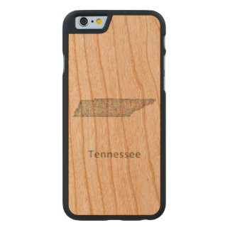 Tennessee map carved cherry iPhone 6 slim case