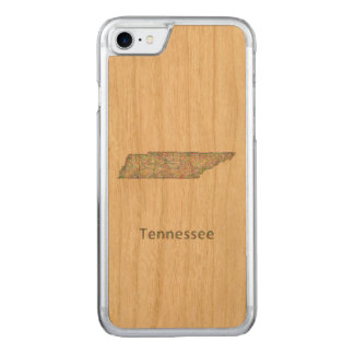 Tennessee map carved iPhone 7 case